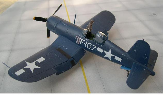 1/48 scale corsair airbrushed semi-gloss blue